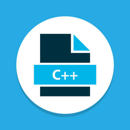 Programming language icon colored symbol. Premium quality isolated file c++ element in trendy style. 向量圖像