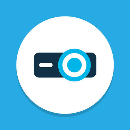Projector icon colored symbol. Premium quality isolated presentation element in trendy style. 向量圖像