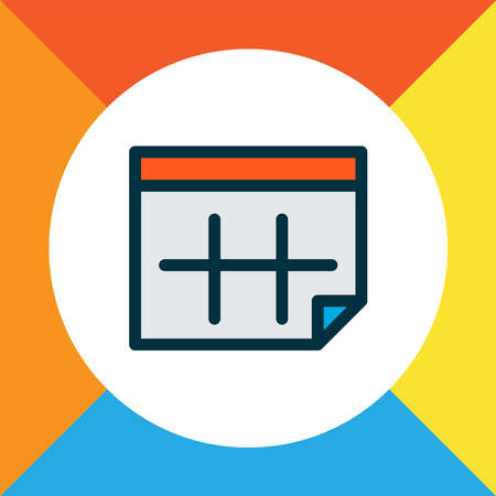 Calendar icon colored line symbol. Premium quality isolated date element in trendy style.