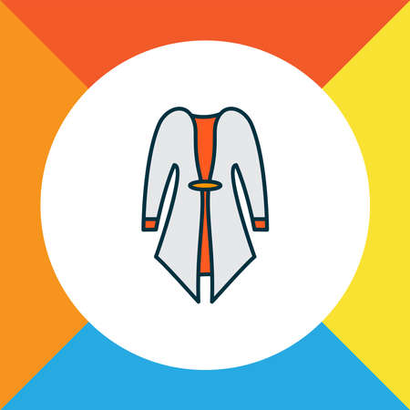 Cardigan icon colored line symbol. Premium quality isolated overcoat element in trendy style.