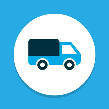 Bogie icon colored symbol. Premium quality isolated caravan element in trendy style.