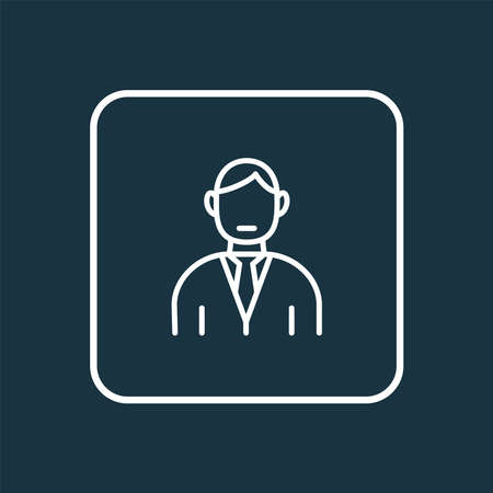 Manager icon line symbol. Premium quality isolated businessman element in trendy style.