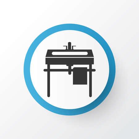 Wash stand icon symbol. Premium quality isolated sink element in trendy style. 版權商用圖片
