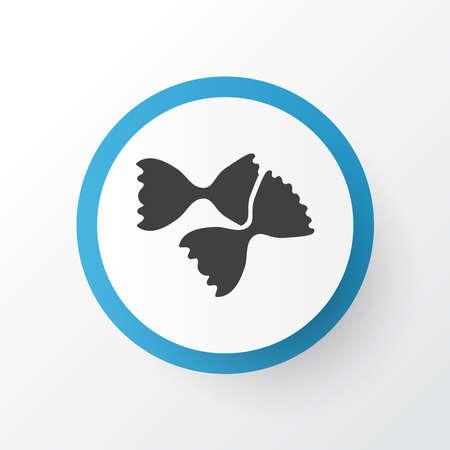 Farfalle pasta icon symbol. Premium quality isolated fiocchi rigatte element in trendy style.