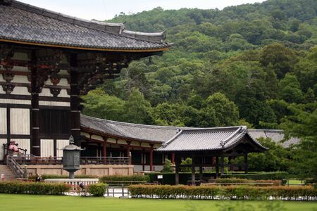 feudalism: Todai-ji in Nara city. The biggest wooden temple in the world.