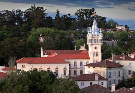 sintra: Beautiful castle. Picture taken in Sintra  Portugal. Stock Photo