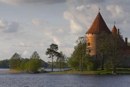donjon: Medieval castle. Picture taken in Trakai  Lithuania