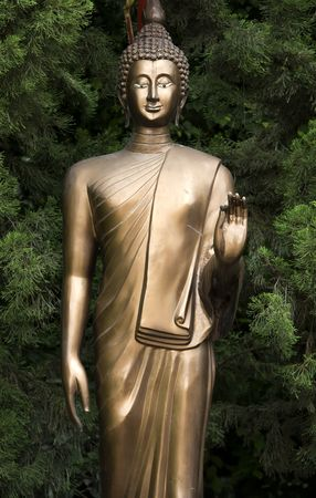 mai: Sculpture of Buddha in Phra Singh temple in Chiang Mai  Thailand Stock Photo