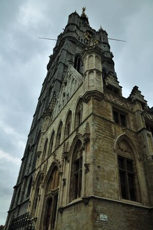 Historic houses  in Ghent, a well preserved medieval city in Belgium photo
