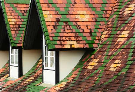 dormer: Dormer windows on tiles roof Stock Photo
