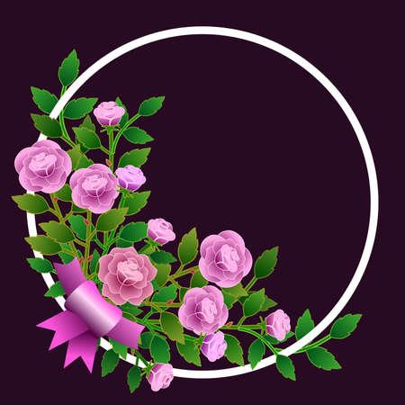 Frame with roses Illustration