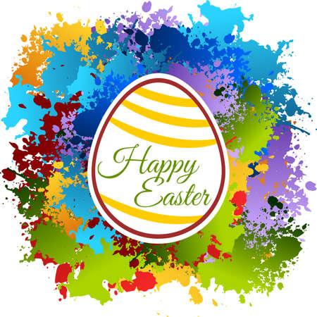 Happy Easter Colorfull Frame Illustration