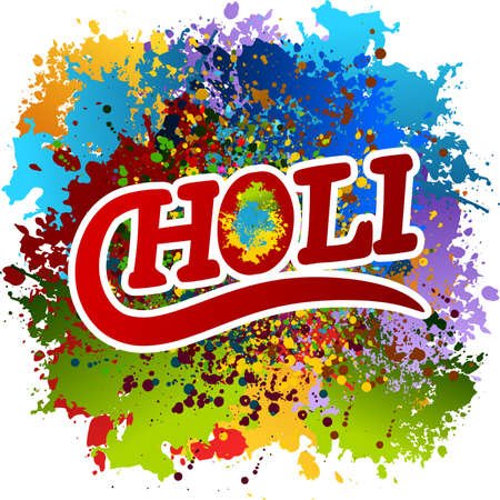 Vector allusive to Holi festival in India Illustration