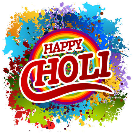 A Vector allusive to Holi festival in India isolated on white background Ilustração