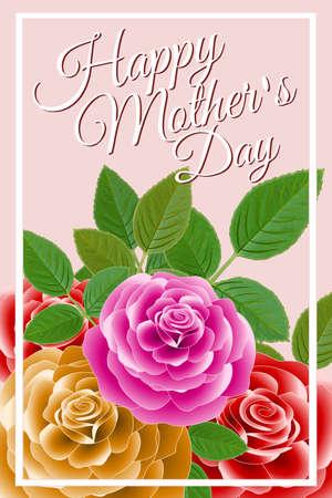 Happy Mother's Day floral frame Foto de archivo - 95709561