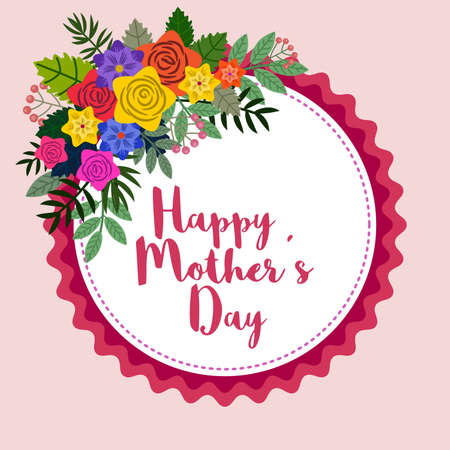 Floral frame allusive to Happy Mother's Day