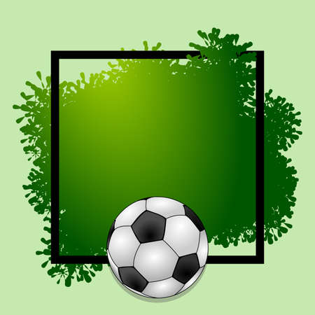 Illustration with design with soccer themed. Ideal for posters and advertisements alluding to this sport.