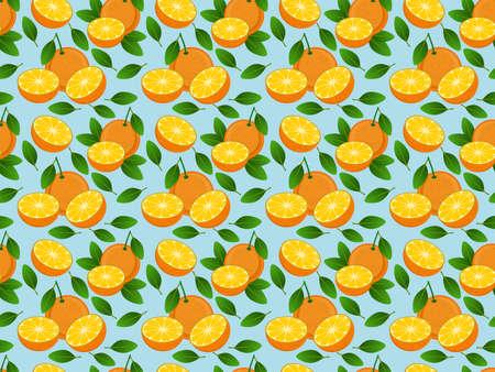 Background with seamless pattern with stylized citrus fruit Stok Fotoğraf