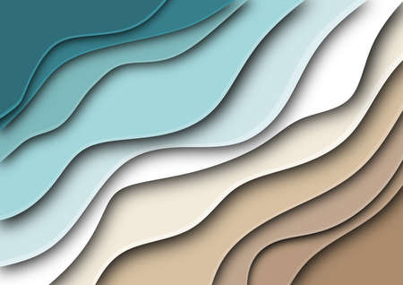 Background or wallpaper with paper cut out with abstract theme referring to organic movement. Illustration. Digital art.