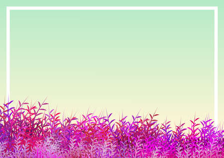 Floral frame illustration with central zone suitable for inserting dedication or personalized message. Digital art.