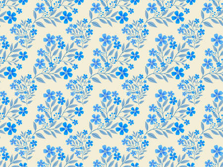 Background with floral pattern. Stylized flowers. Seamless pattern. Illustration.Digital art.
