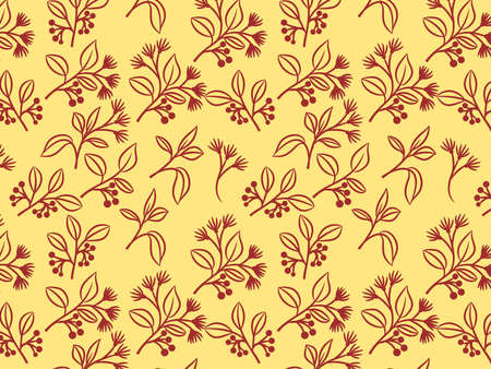 Background with illustration of seamless floral pattern. Wallpaper. Illustration, Digital art.