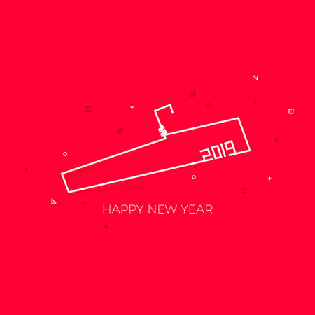 Fashion and Lifestyle Brand New Year Wish, 2019 Happy New Year background. Seasonal Greeting Card template