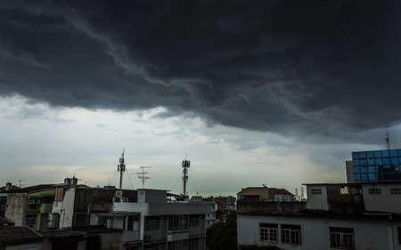 storm coming: Storm coming over Bangkok, Thailand. Stock Photo