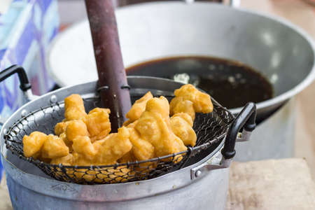 patongkoh: Fried bread stick or Pa tong ko in Thai Stock Photo