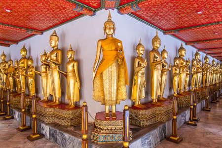Buddha statues in Wat Pho temple, Bangkok, Thailand. Stock Photo