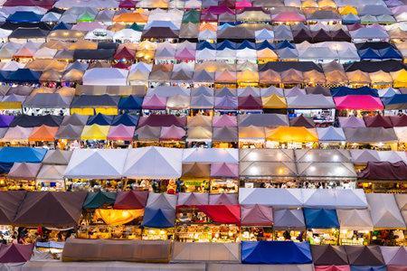 BANGKOK, THAILAND - April 22, 2019 : Train Night Market Ratchada