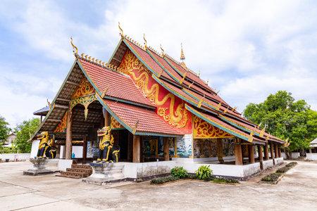 MUANG NGEUN, LAOS - July 28, 2019 : Wat Ban Khon, Muang Ngeun, Laos.