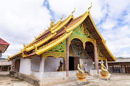 MUANG NGEUN, LAOS - July 28, 2019 : Old temple in Muang Ngeun, Laos.