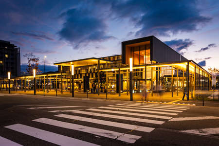 TAKAYAMA, JAPAN - October 22, 2019: JR Takayama Station in the city of Takayama, Gifu Prefecture, Japan.