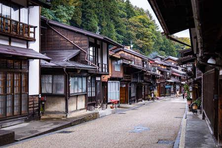 NAGANO, JAPAN - October 19, 2019 : Narai (Narai-juku)  on the Nakasendo trail, Nagano Prefecture, Japan.