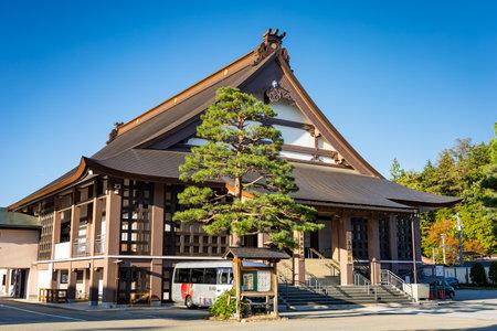 Takayama, Japan - October 22, 2019 : Shinshuotaniha Shoren Temple in Takayama, Japan.