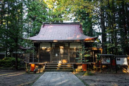 Takayama, Japan - October 22, 2019 : Higashiyama Hakusan Shrine is located in Takayama, Japan.