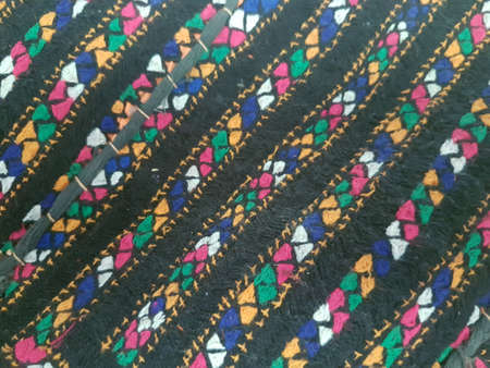 Pattern on a hand made cloth 写真素材 - 106545480
