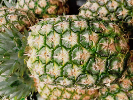Pine apple at home and in stores 写真素材
