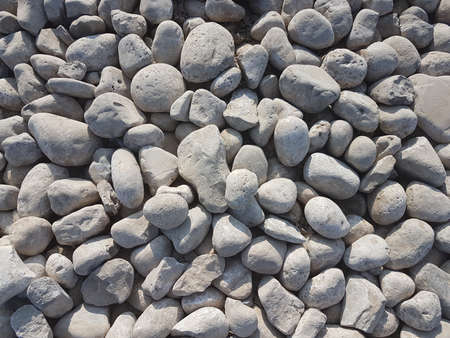 Small rocks and pebbles for the purpose of construction
