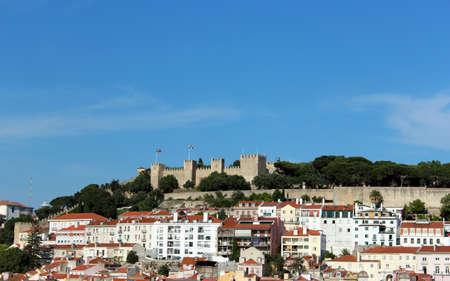 jorge: Portugal Lisbon Saint Georges Castle Castelo de Sao Jorge viewed from the historical city center