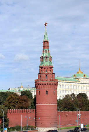 Beautiful view of the Moscow Kremlin in the capital of Russia photo