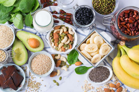 Food rich in magnesium, healthy eating and dieting