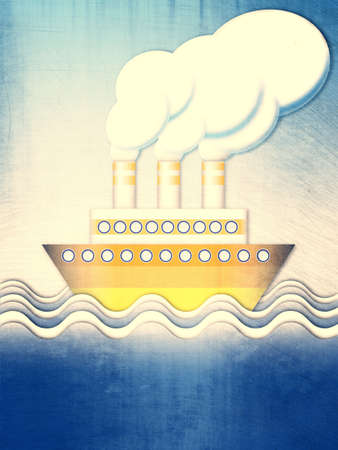 odyssey: Summer excursion steamer cruise on the ocean waves