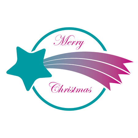 Label Christmas comet  Vector illustration  Eps format  Vector