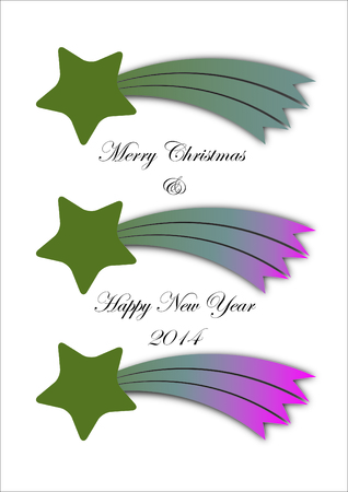 Christmas comet with best wishes for the new year  Vector