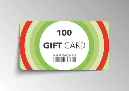Modern gift card template - vector format Stock Vector - 27449989