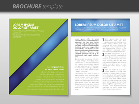 Vector business brochure. Flyer template. Vector