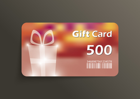 flexible business: Modern gift card template Illustration