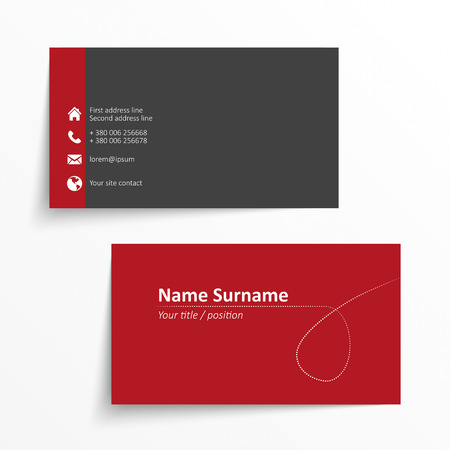 business card layout: Modern simple business card template.